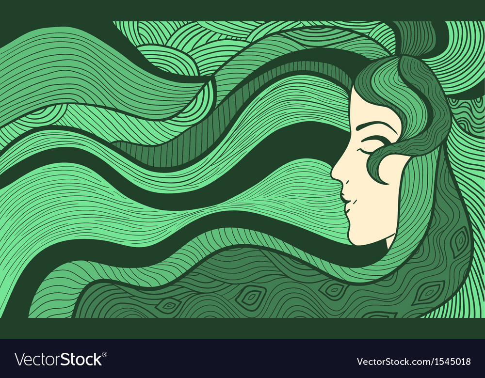 Fancy woman background Royalty Free Vector Image
