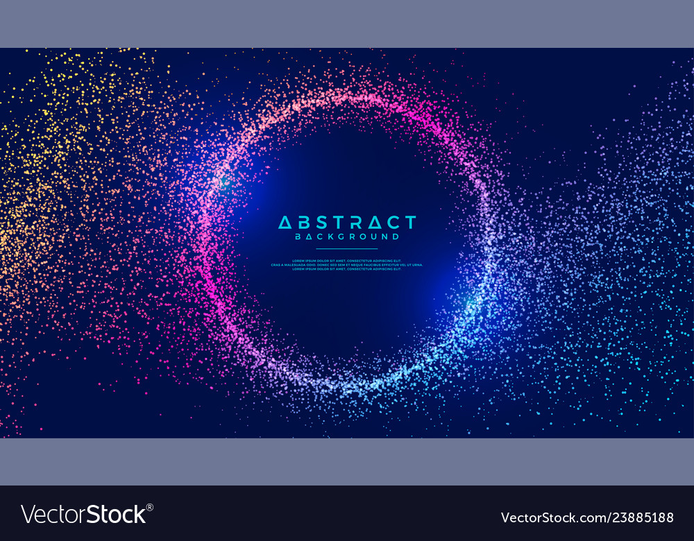 Abstract dynamic liquid flow particles background Vector Image