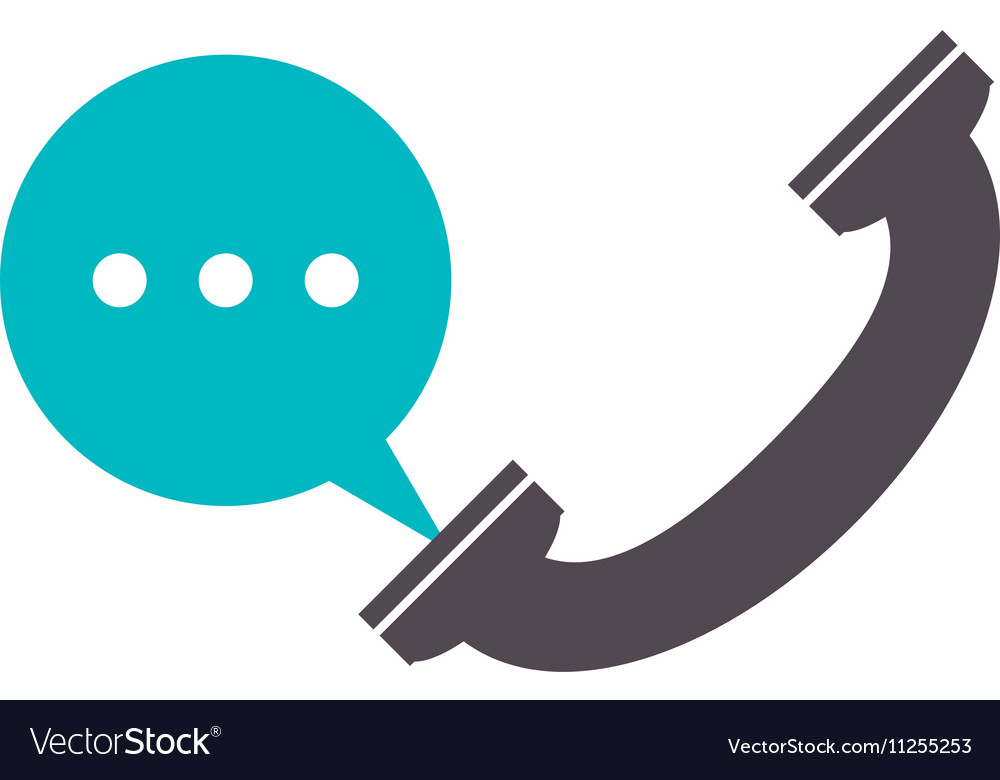 Isolated phone with bubble design Royalty Free Vector Image