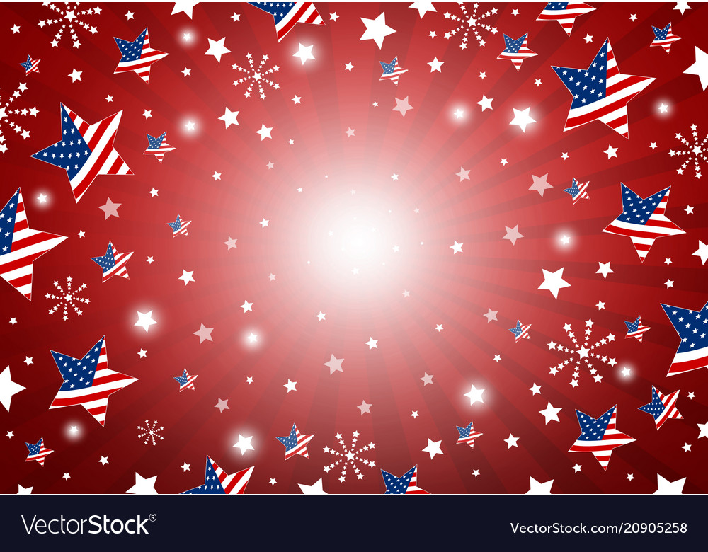 Usa background design of america flag in star and Vector Image - America Flag Background