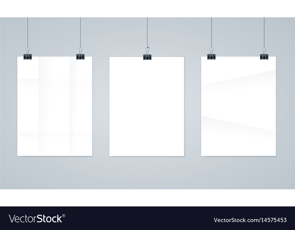 Blank paper photo frames or poster templates Vector Image