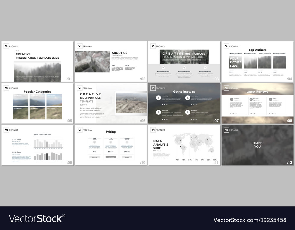 Clean minimal presentation templates Royalty Free Vector