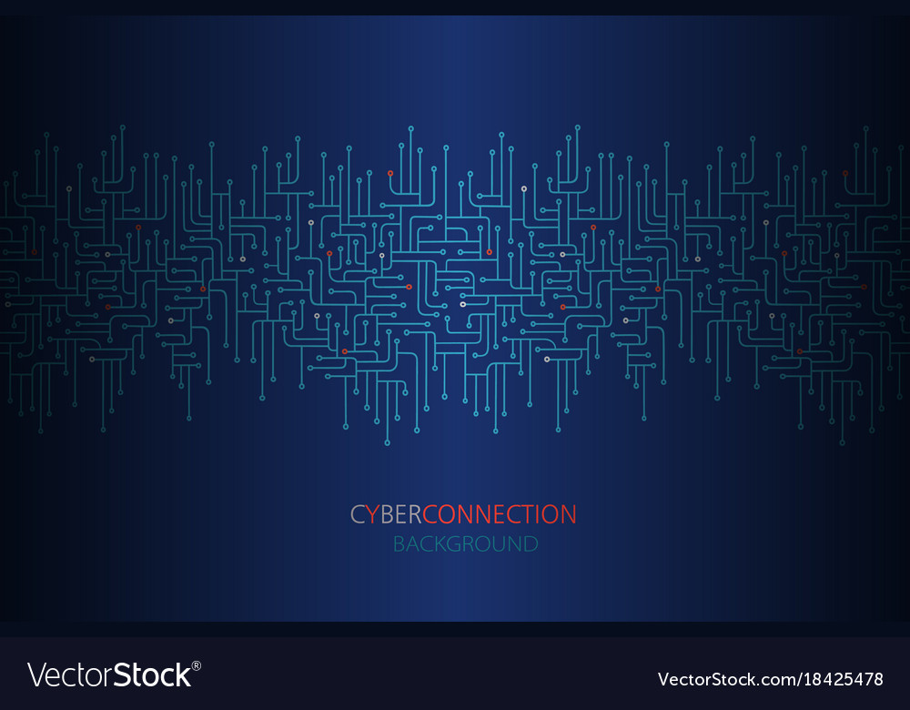 Cyber connection electronic circuit background Vector Image - circuit design background