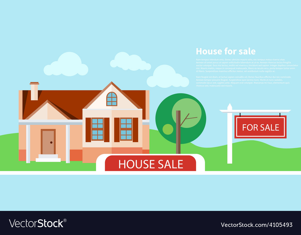 Sold home for sale sign Royalty Free Vector Image