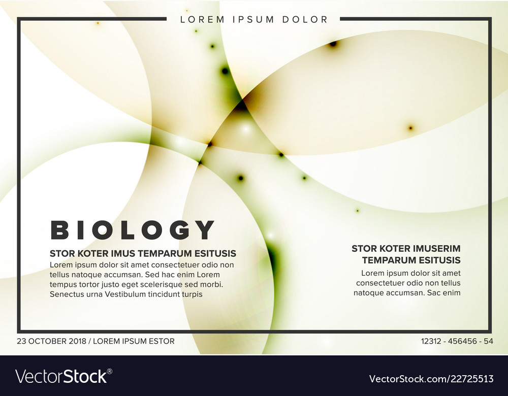 Abstract biology flyer template Royalty Free Vector Image