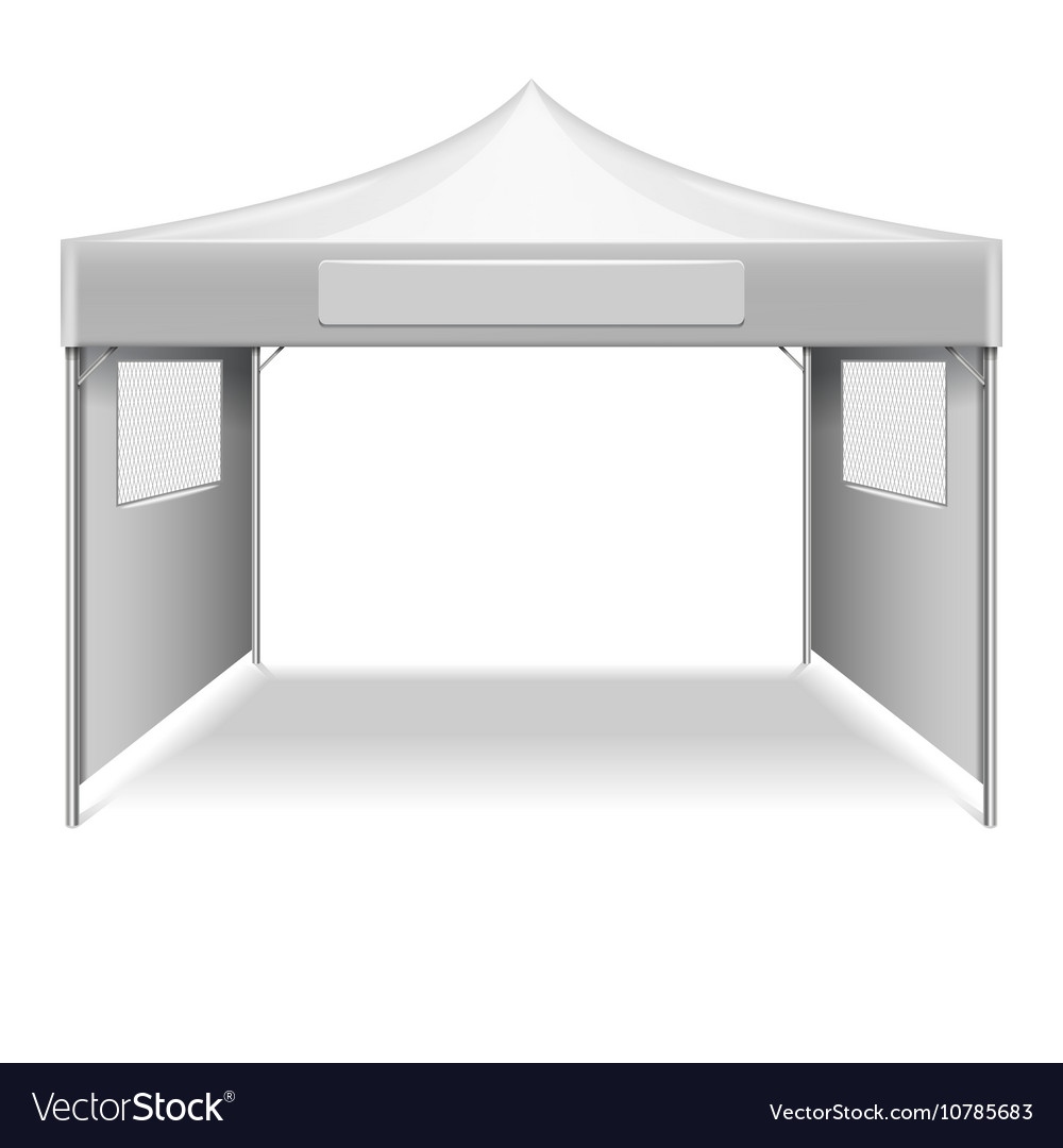 White Umbrella Marquees White Empty Folding Tent Marquee Template