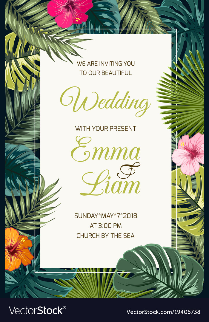 Wedding event invitation card template Royalty Free Vector - invitation card event