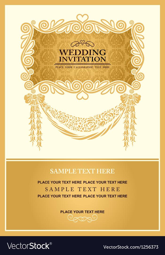 Vintage background wedding invitation Royalty Free Vector