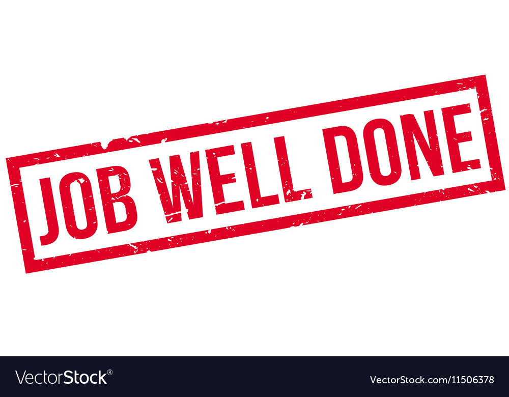 Job Well Done rubber stamp Royalty Free Vector Image