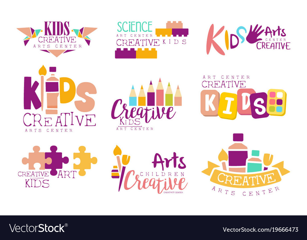 Kids creative and science class template Vector Image - class template