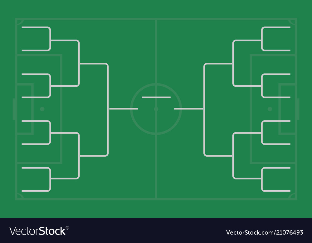 Tournament bracket championship template Vector Image