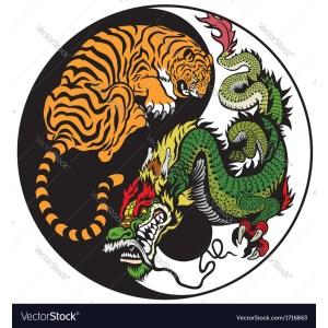 Outstanding Tiger Dragon On Yin Yang Tiger Dragon On Yin Yang