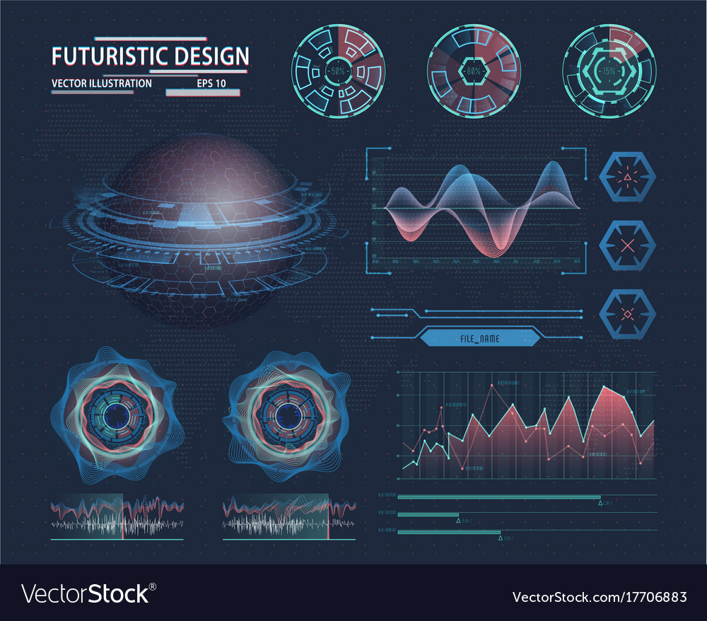 Futuristik Design Infographic In Futuristic Design Science Theme