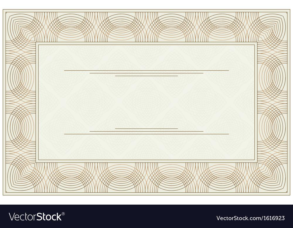 Blank voucher Royalty Free Vector Image - VectorStock - blank voucher
