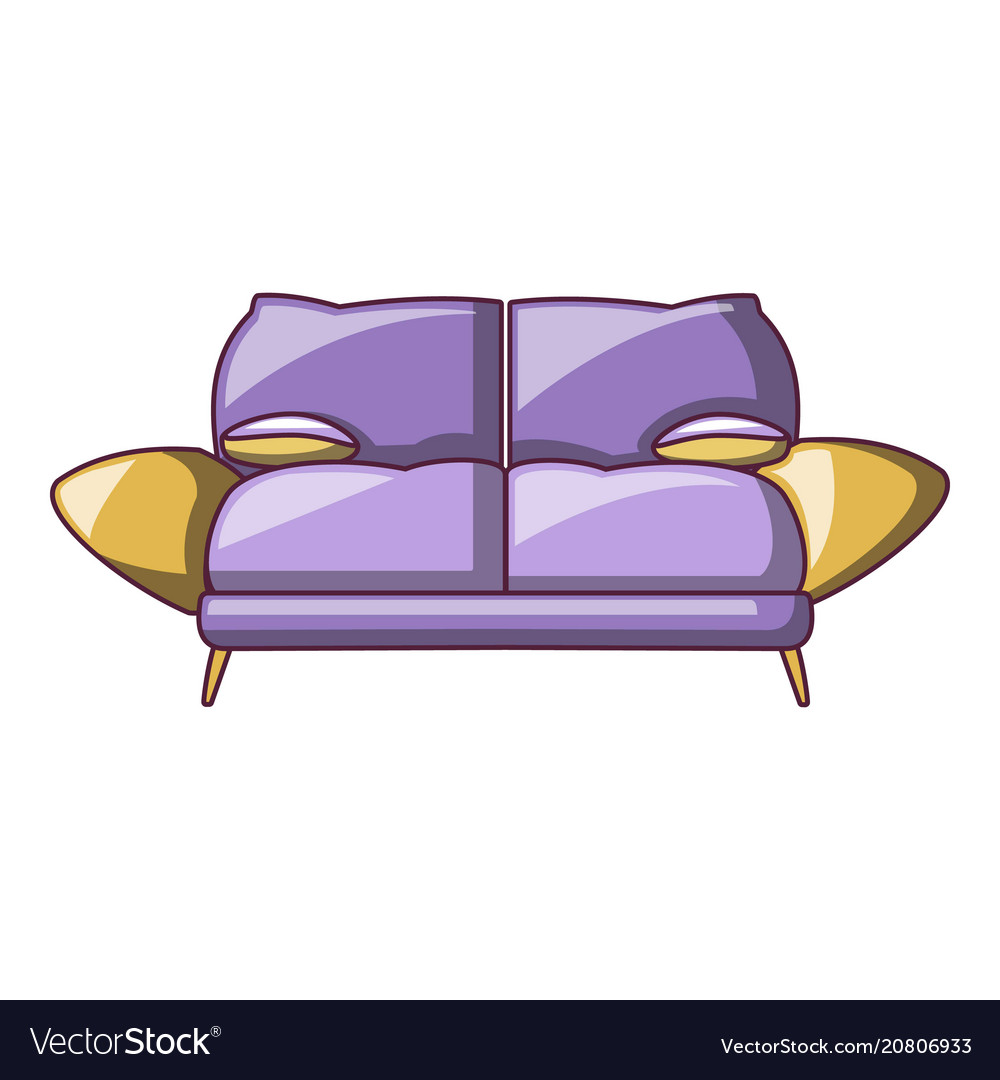 Mini Couch Mini Sofa Icon Cartoon Style