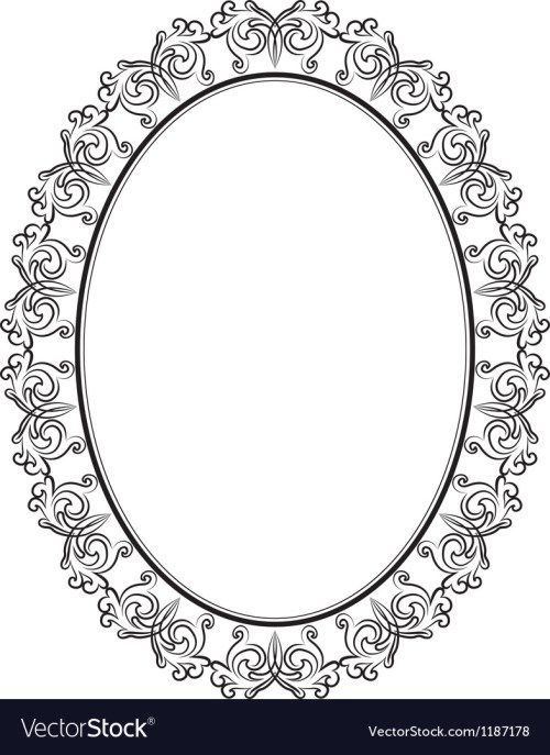 Medium Of Oval Picture Frame
