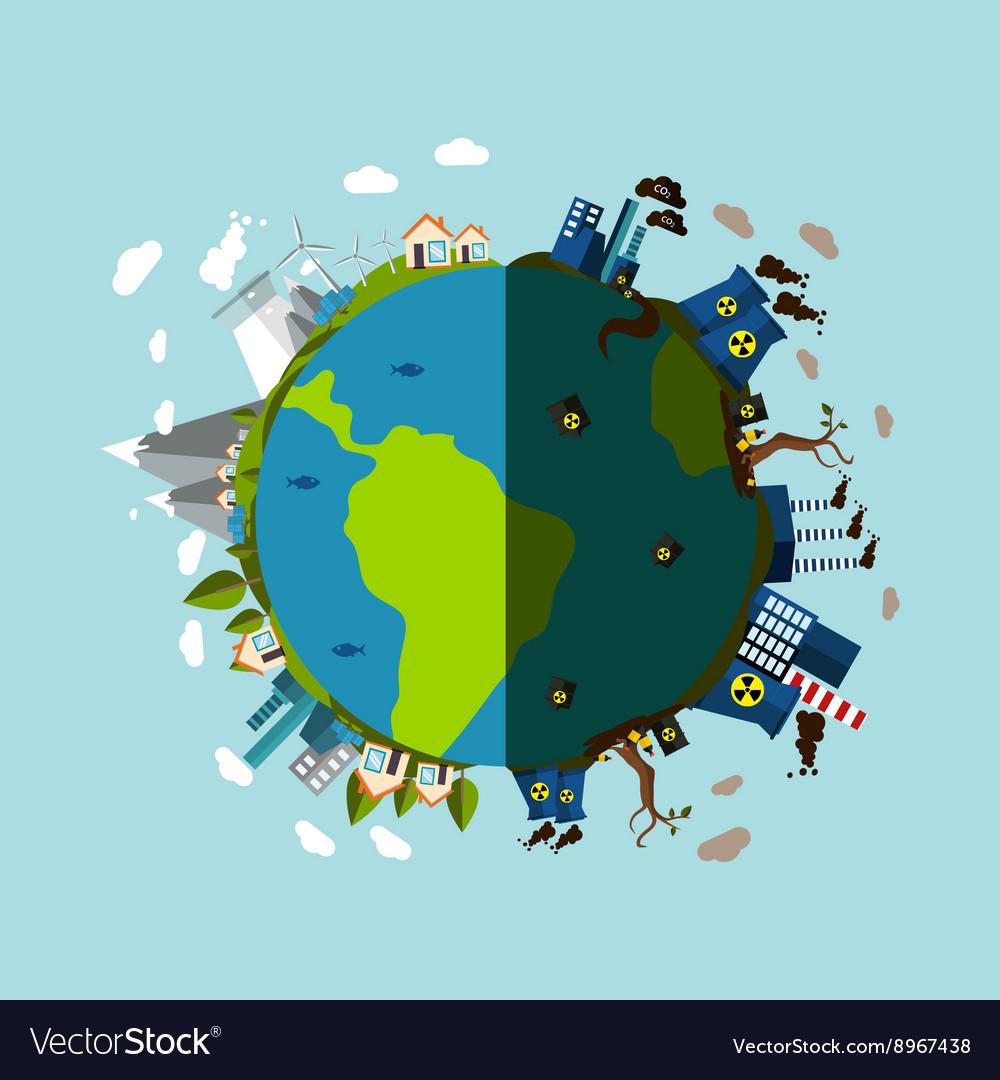 Cartoon Animation Wallpaper Free Download Environmental Pollution Poster Royalty Free Vector Image