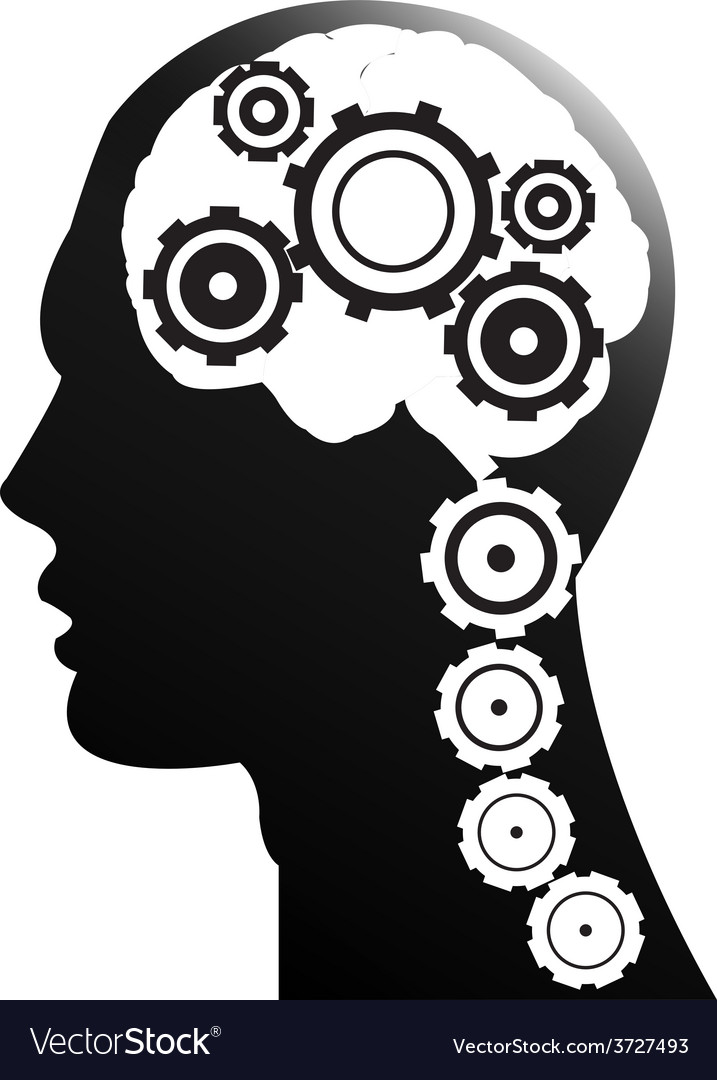 Mechanism of the brain Royalty Free Vector Image
