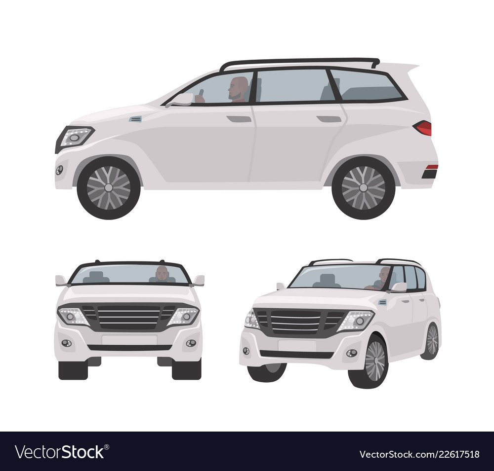 Cuv Car White Off Roader Cuv Car Or Automobile Isolated