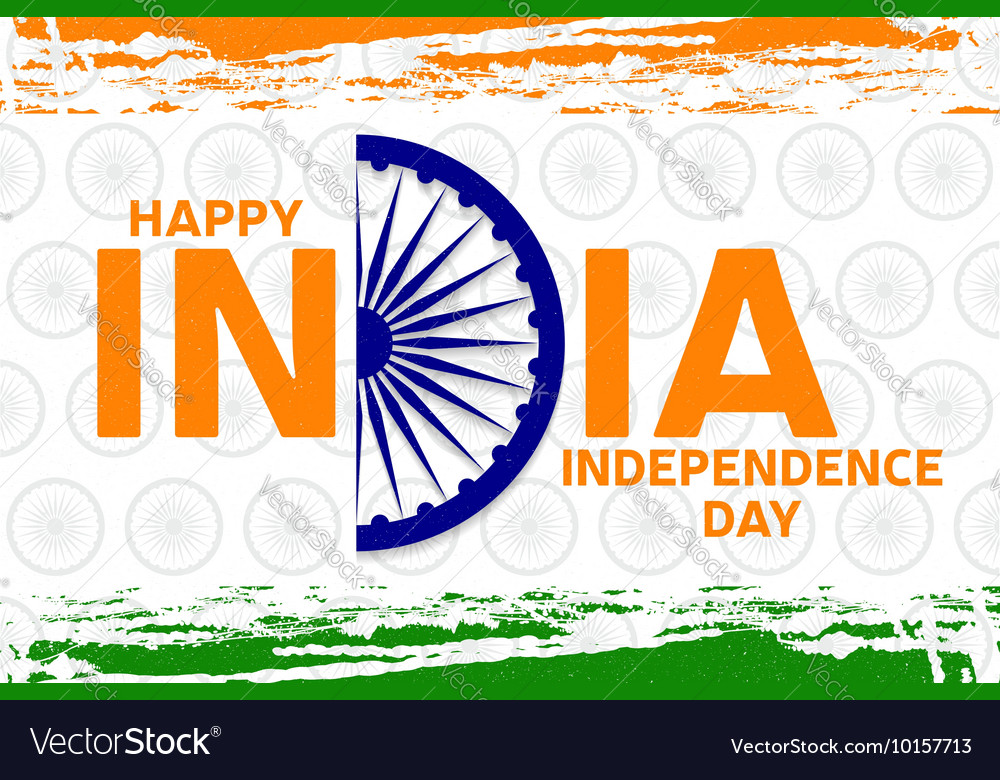 Indian independence day greeting card poster flyer