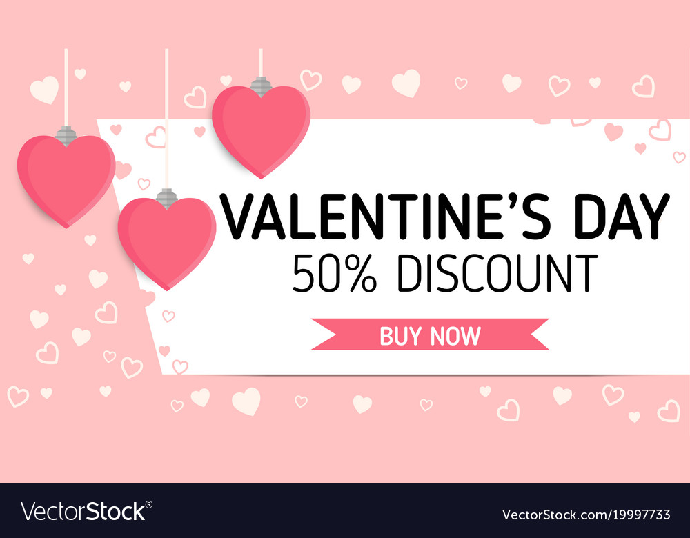 Valentineday sale label Royalty Free Vector Image