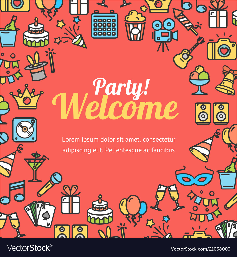 welcome party invitation cards