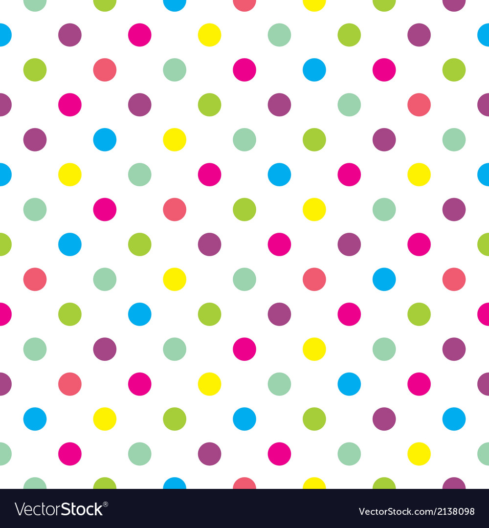 Cute Teal Wallpapers Tile Polka Dots Background Pattern Or Wallpaper Vector Image