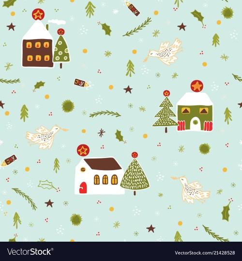 Diverting Village Houses Pattern Vector Image Village Houses Pattern Royalty Free Vector Image Village Houses Dollar Tree Village Houses Clearance