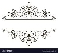Elegant frame banner floral elements Royalty Free Vector
