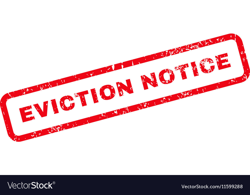 Eviction Notice Text Rubber Stamp Royalty Free Vector Image