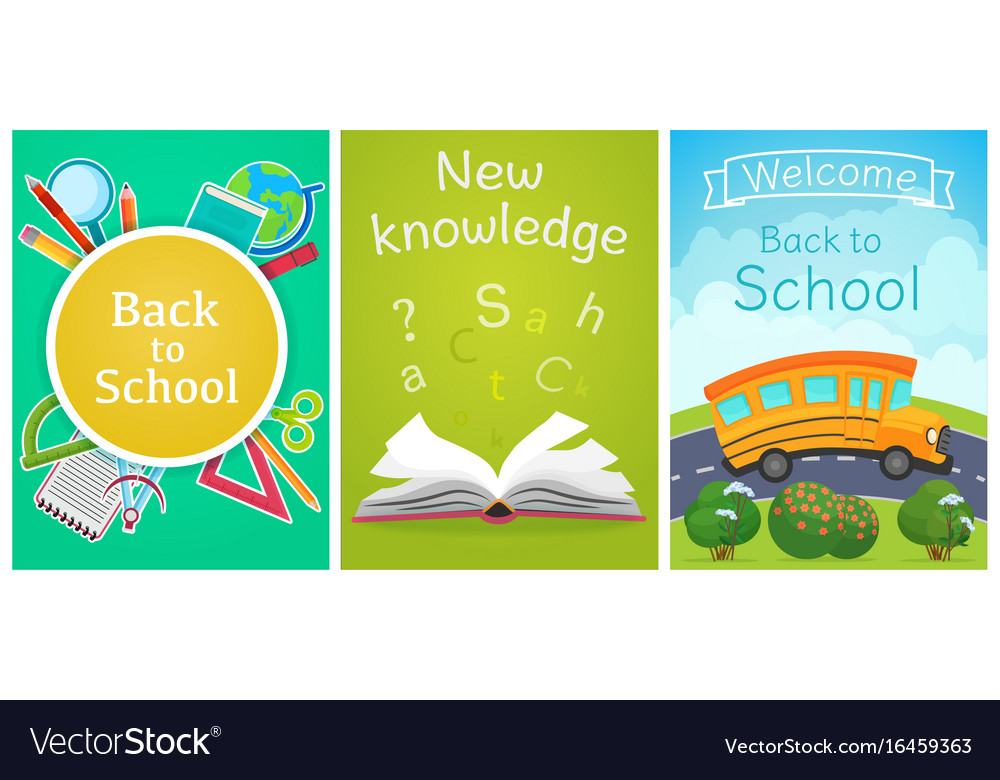 Welcome back to school concept template school Vector Image - welcome back template