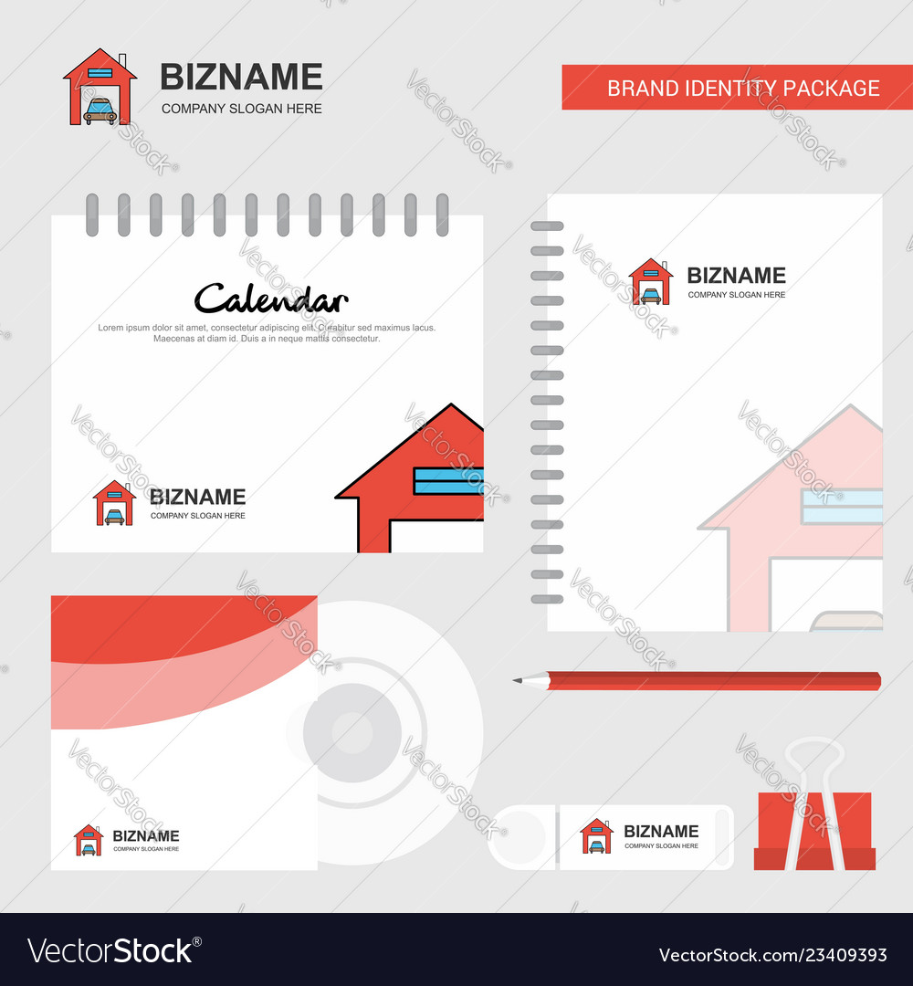 Garage Design Template House Garage Logo Calendar Template Cd Cover Vector Image On Vectorstock