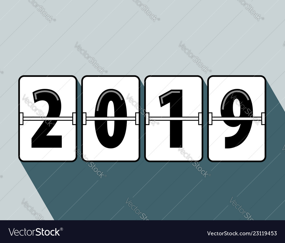 Flip Clock Happy New Year 2019 Flip Clock Style