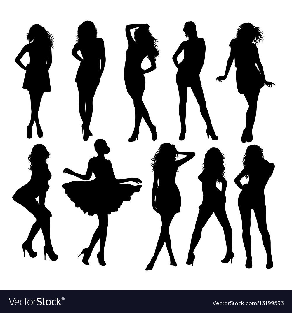 Stylish Clothes Silhouette Model Modern Stylish Clothes Vector Image On Vectorstock