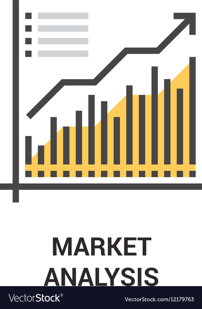Market analysis icon concept Royalty Free Vector Image