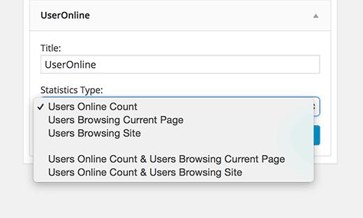 Users online widget