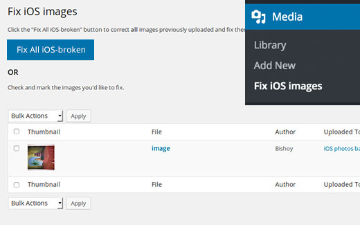 Fix iOS upside down or flipped images in WordPress