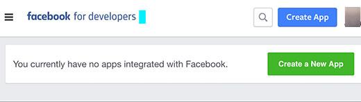 Creating a new Facebook app