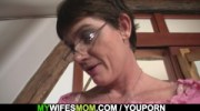 Cock hungry motherinlaw rides him