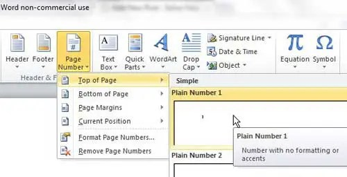 Remove the Page Number from a Title Page in Word 2010 - Solve Your Tech