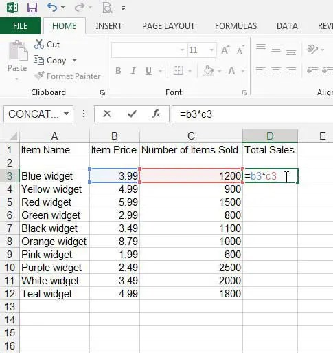 How to Create a Formula in Excel 2013 - Solve Your Tech - creating formulas in excel