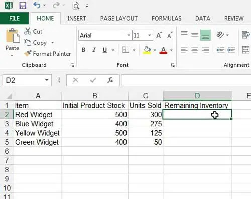 How to Subtract in Excel 2013 with a Formula - Solve Your Tech - creating formulas in excel