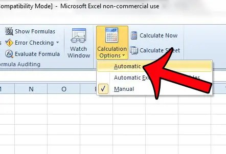 How to Turn on Automatic Calculation in Excel 2010 - Solve Your Tech