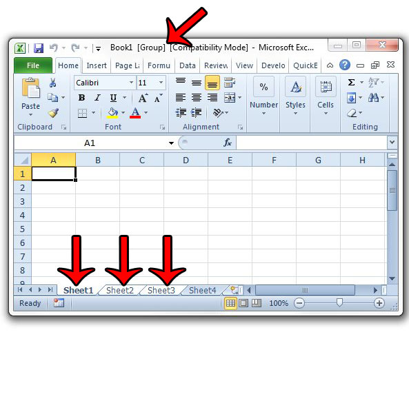 How to Enter Data Into Multiple Worksheets at the Same Time in Excel - time spreadsheets