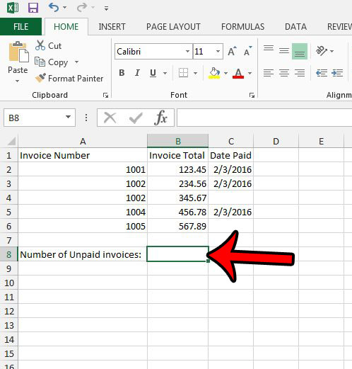 How to Count the Number of Blank Cells in a Range in Excel 2013