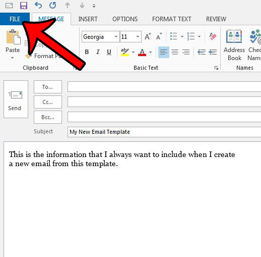 How to Create an Outlook Email Template in Outlook 2013 - Solve Your
