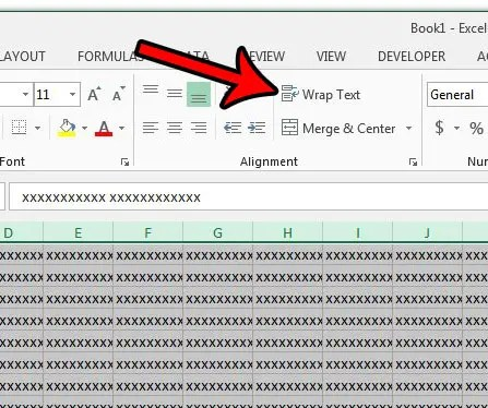 How to Wrap Text for Every Cell in a Spreadsheet in Excel 2013