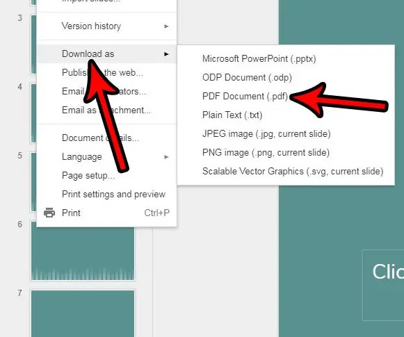 How to Convert a Google Slides File to a PDF - Solve Your Tech - Convert File To Pdf