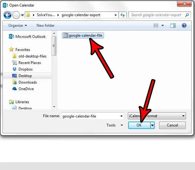 How to Import a Google Calendar ics File to Microsoft Outlook