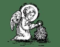 Disegno di Angioletto di Natale da Colorare